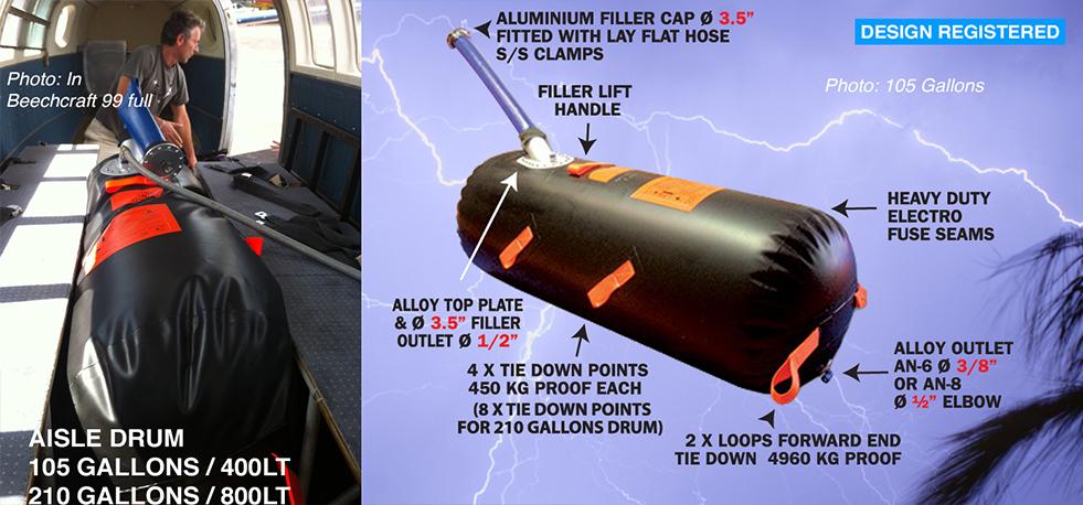 TurtlePac | Flexible Bladder Tanks for Airplanes
